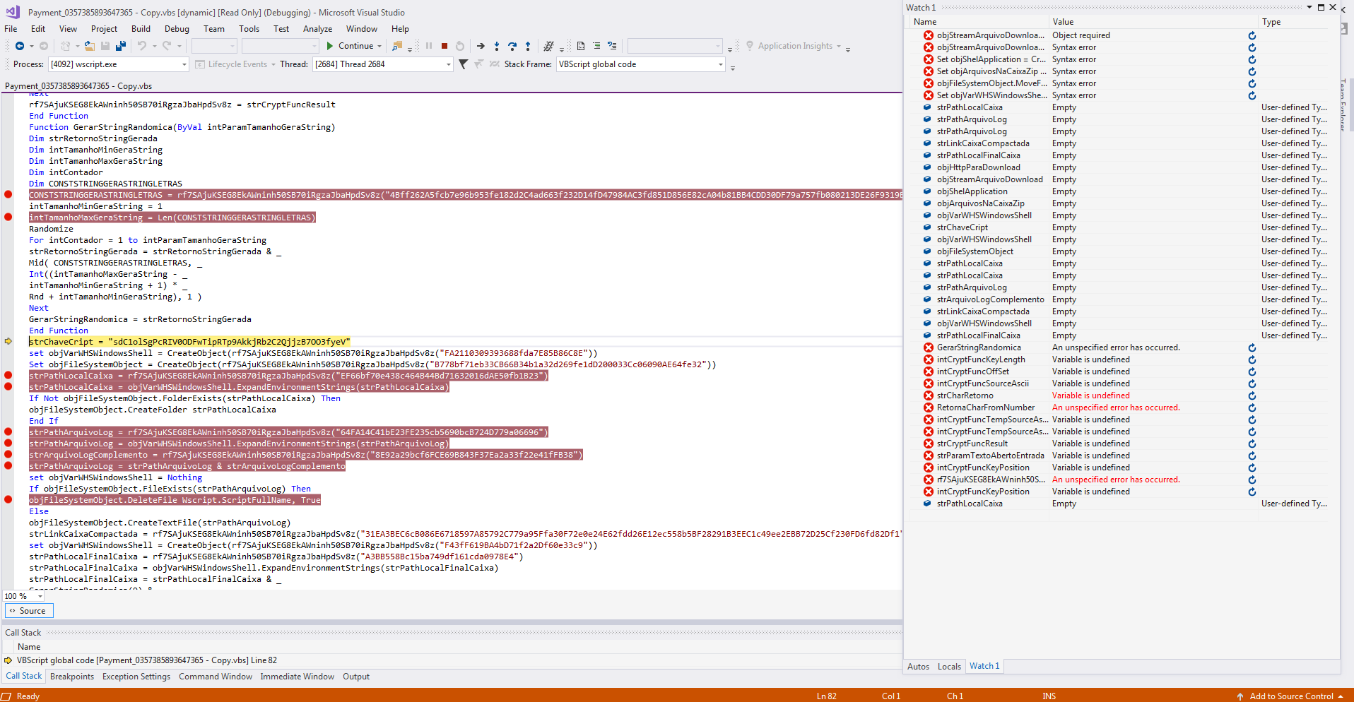 2018-10-12 Using Visual Studio to debug VBScript – Lost in